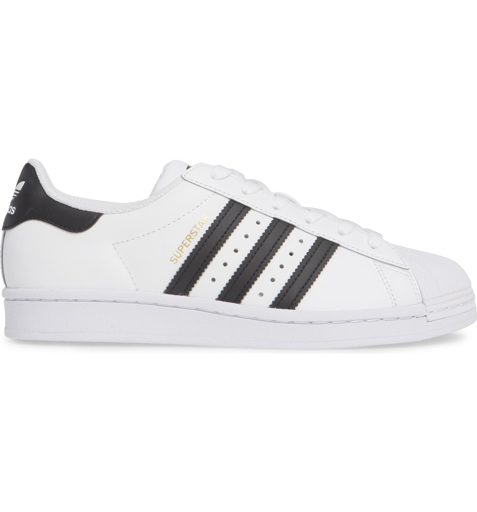adidas superstar womens black and white size 5