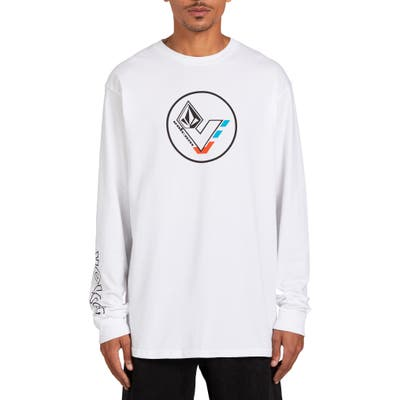 Volcom Basic Long Sleeve Longline T-Shirt, White