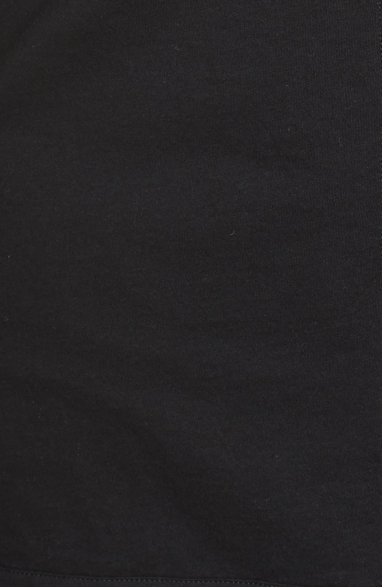,                             Crop Pajamas,                             Alternate thumbnail 5, color,                             BLACK