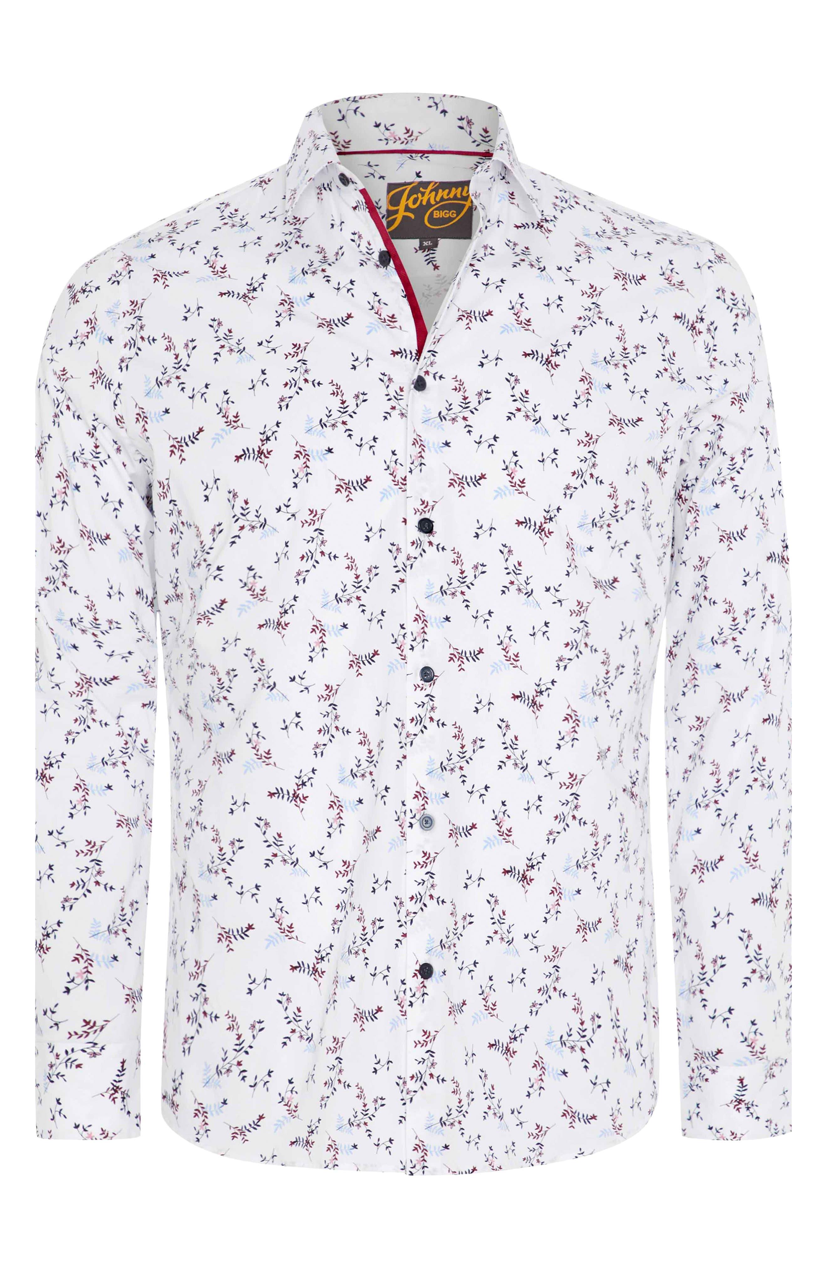 Wesley Regular Fit Floral Stretch Button-Up Shirt