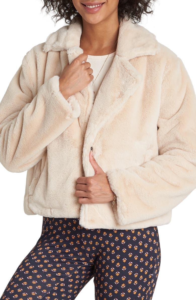 BILLABONG Moon Riser Faux Fur Jacket, Main, color, WHISPER