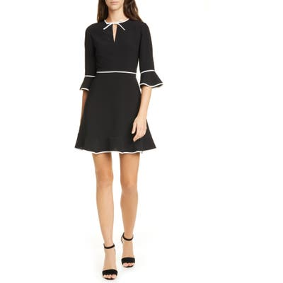 Ted Baker London Dindy Fit & Flare Dress, (fits like 0-2 US) - Black