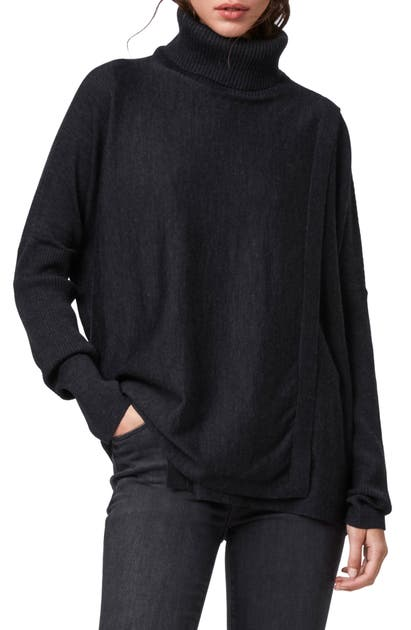 Allsaints Sweaters KOKO MERINO WOOL TURTLENECK WRAP SWEATER