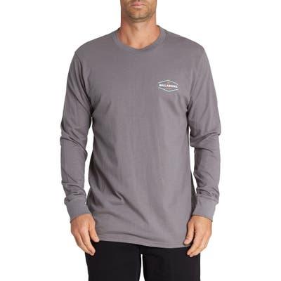 Billabong Vista Graphic Long Sleeve T-Shirt, Grey