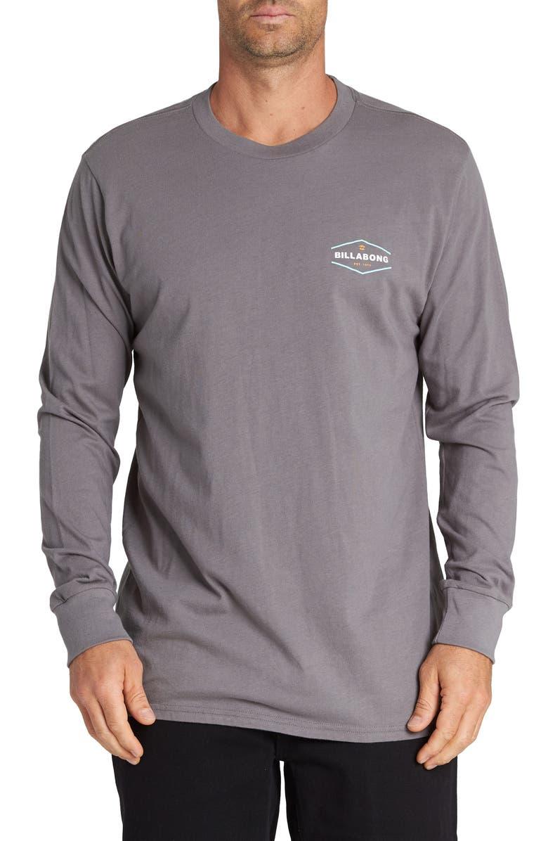 BILLABONG Vista Graphic Long Sleeve T-Shirt, Main, color, PEWTER