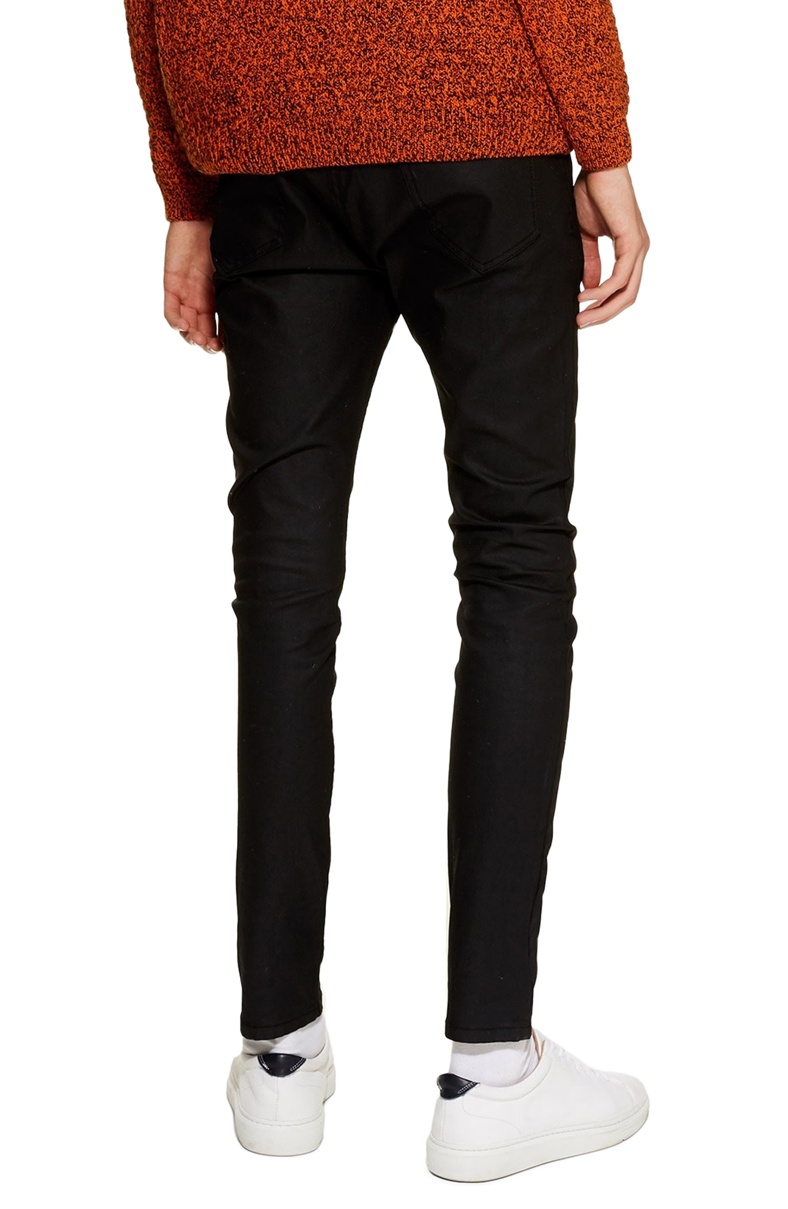 ,                             Coated Denim Skinny Jeans,                             Alternate thumbnail 2, color,                             001