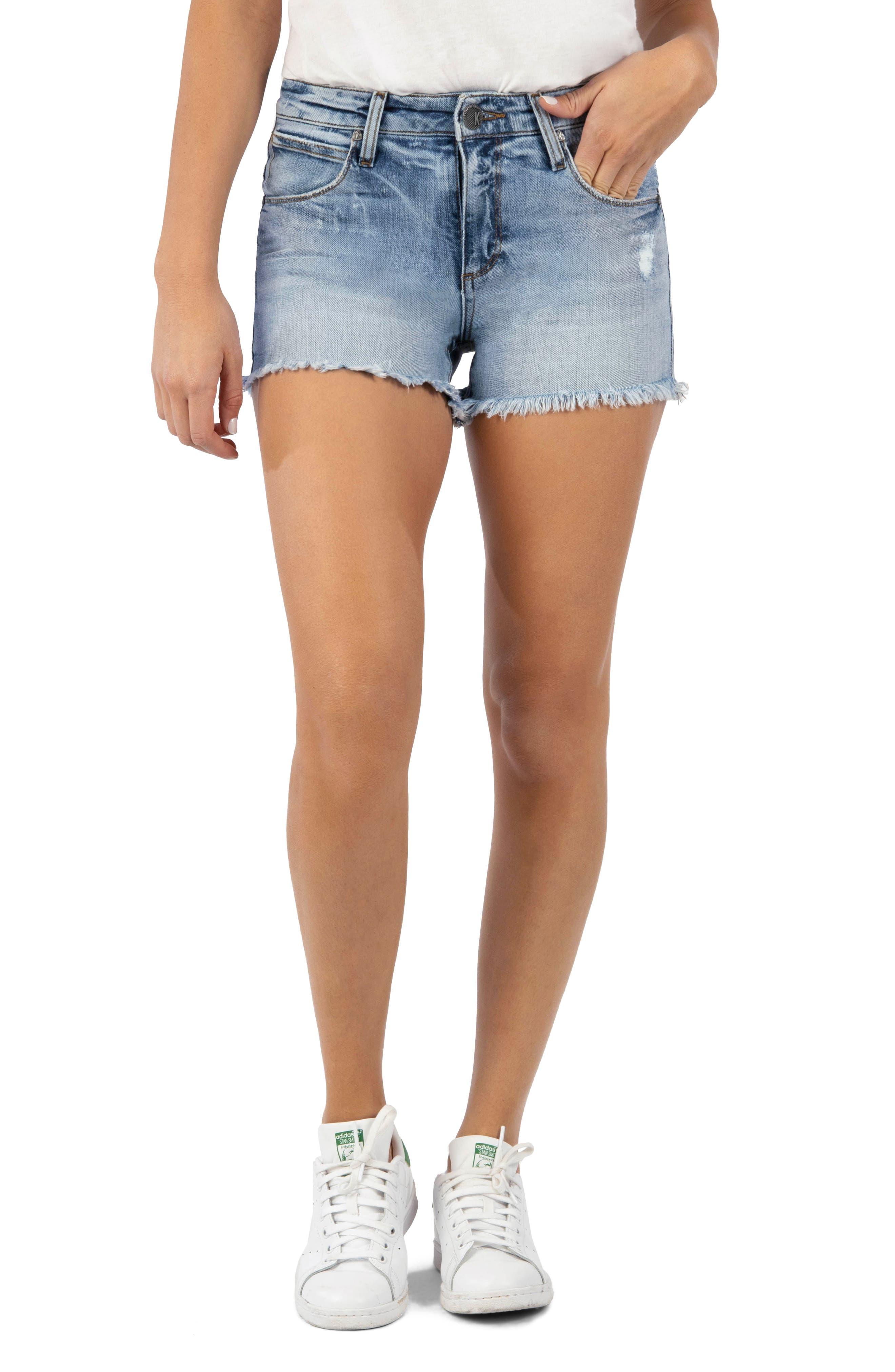 Gidget Distressed Denim Shorts
