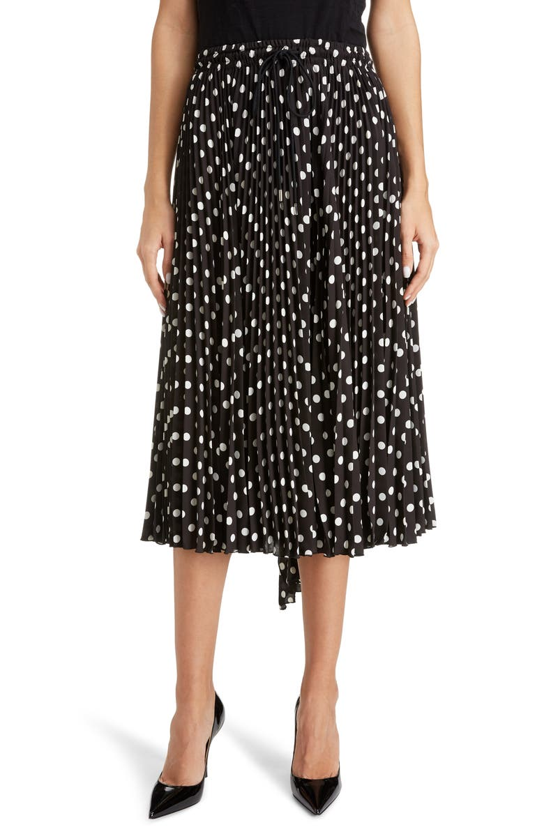 MARC JACOBS The Pleated Skirt, Main, color, BLACK/ WHITE
