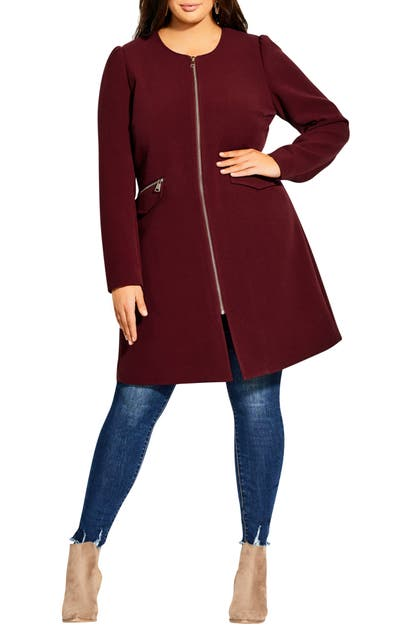 City Chic Coats SIMPLE ELEGANCE A-LINE COAT