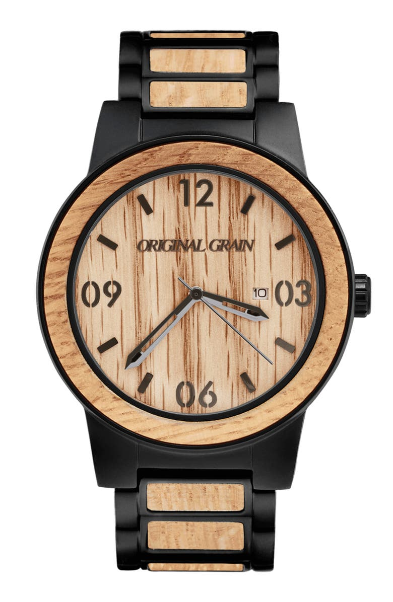 ORIGINAL GRAIN Barrel Bracelet Watch, 47mm, Main, color, 200