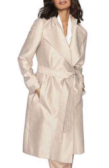 Image of REISS Isla Textured Satin Trench Coat
