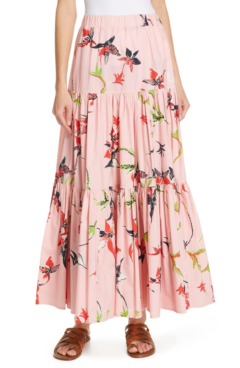 LA DOUBLEJ Big Print Convertible Peasant Skirt, Main, color, 650