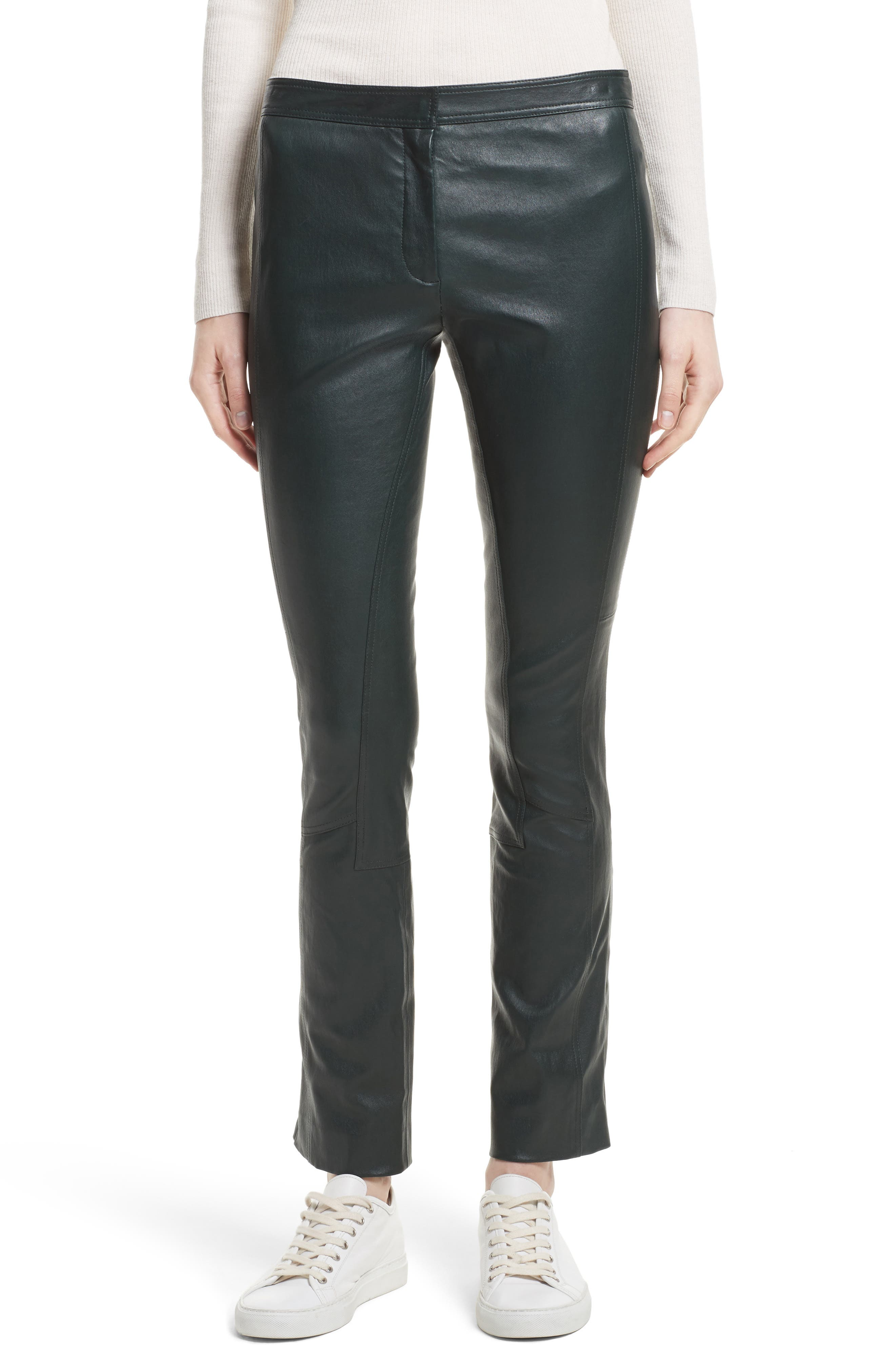 Image of Theory Bristol Leather Riding Pants