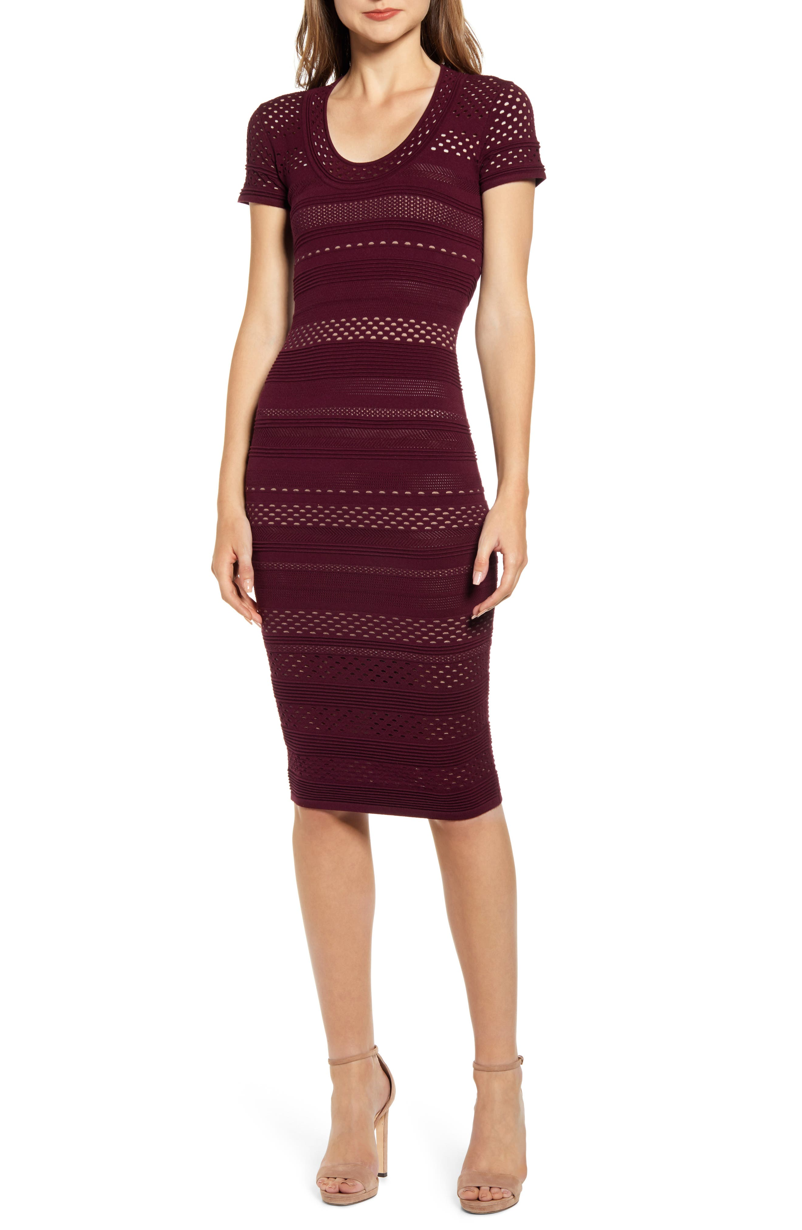 Bailey 44 Lindsay Body-Con Sweater Dress, Red