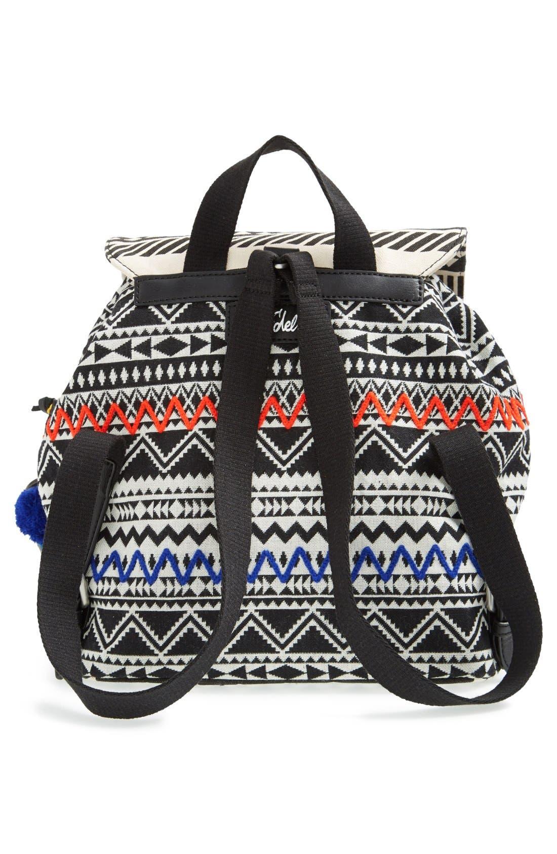 ,                             'Bella' Woven Backpack,                             Alternate thumbnail 6, color,                             001