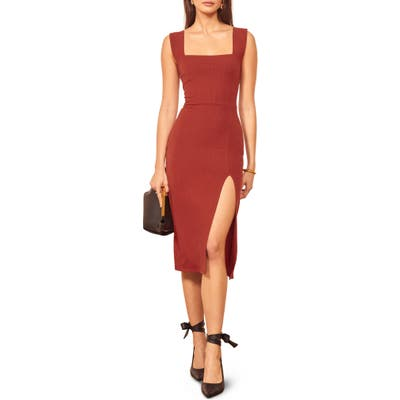 Reformation Cassi Sheath Dress, Red