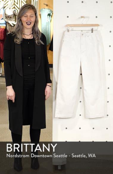 Katie High Waist Wide Leg Crop Jeans, sales video thumbnail