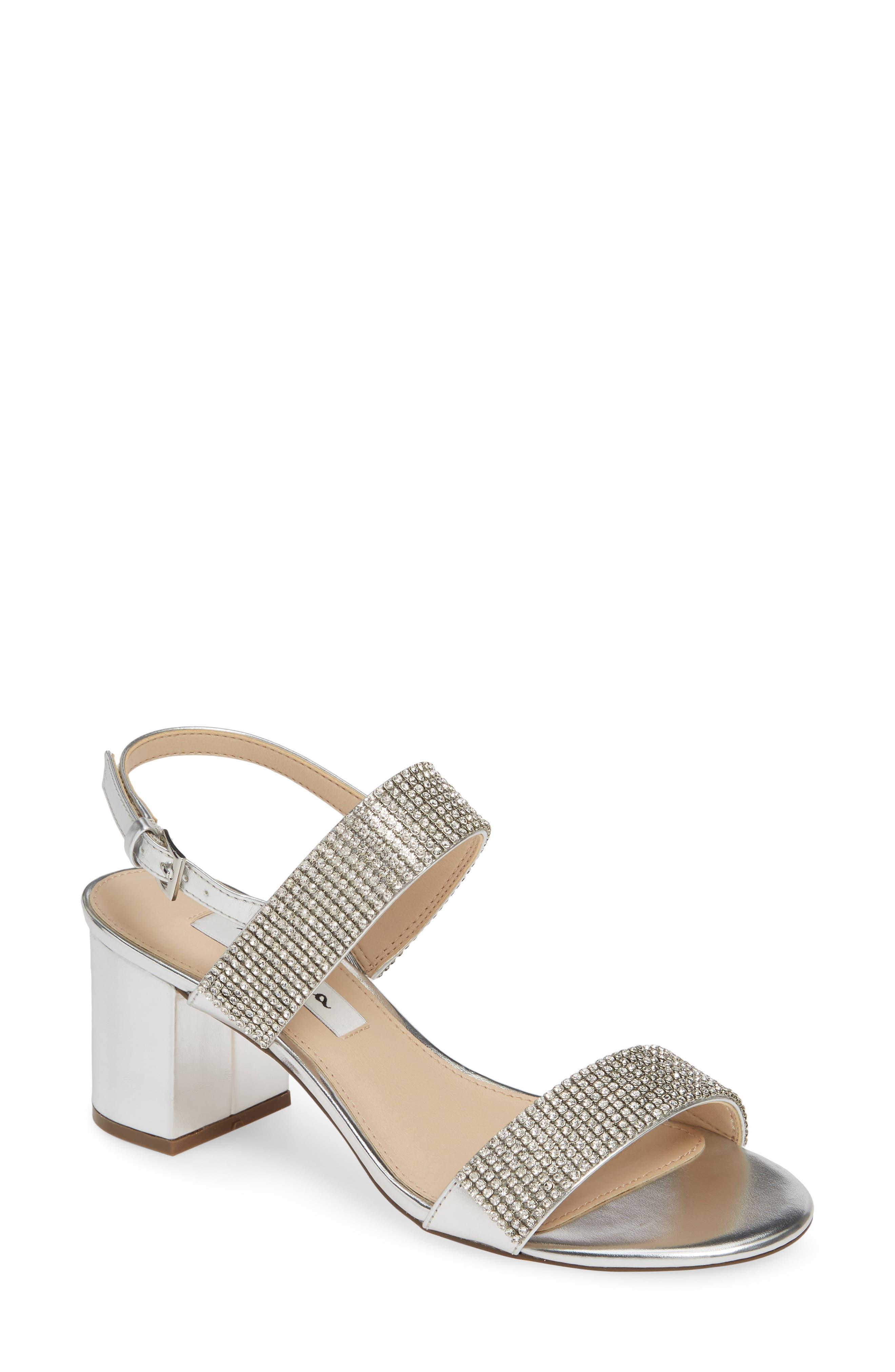 Nina Naomi Crystal Embellished Sandal (Women)