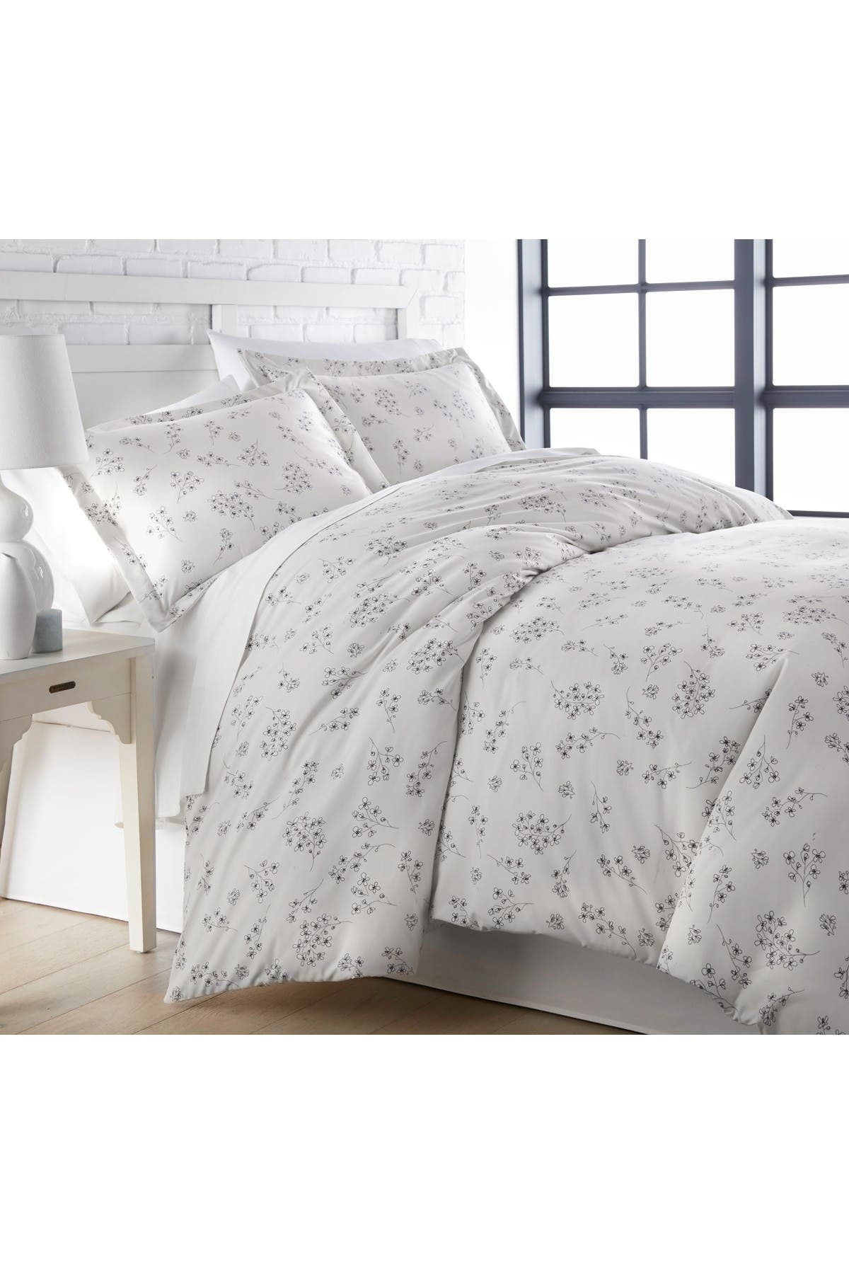 Image of SOUTHSHORE FINE LINENS Full/Queen Luxury Collection Premium Oversized Duvet Cover Set - Gray