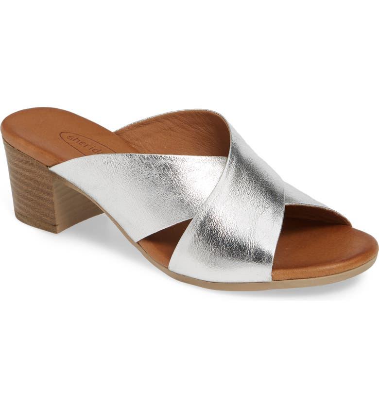 SHERIDAN MIA Tonia Slide Sandal, Main, color, SILVER LEATHER