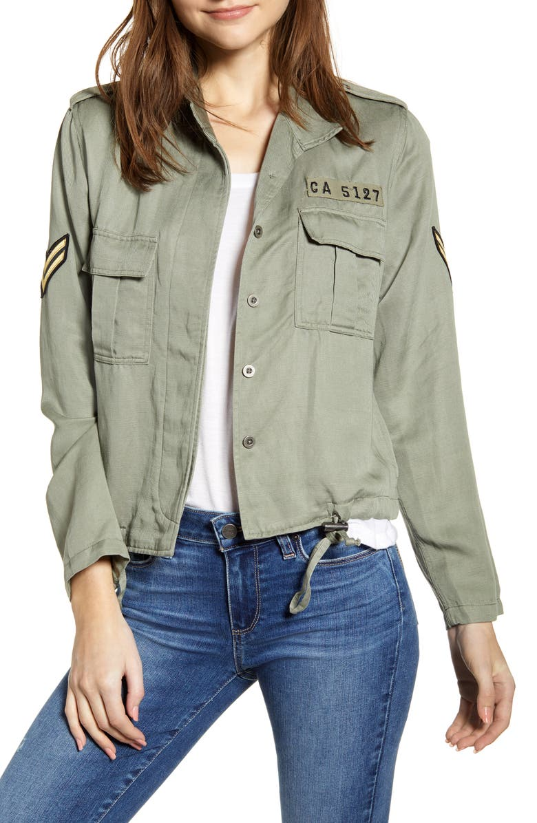 RAILS Rowen Military Jacket, Main, color, SAGE MILITARY