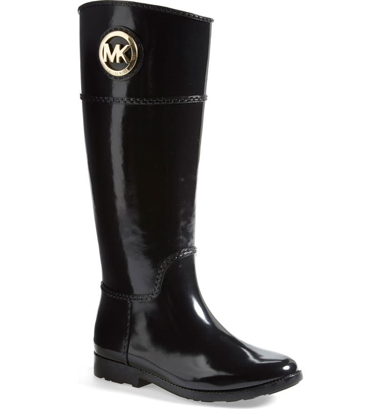 MICHAEL MICHAEL KORS 'Stockard' Rain Boot, Main, color, 001