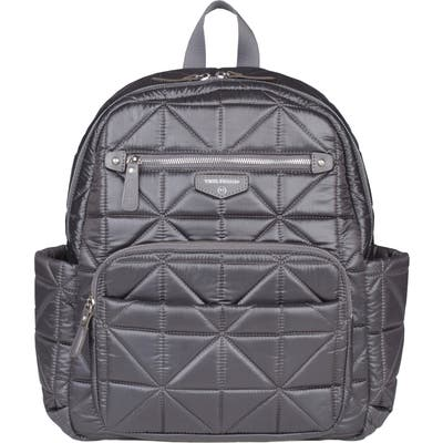 Infant Twelvelittle Companion Quilted Nylon Diaper Backpack - Grey