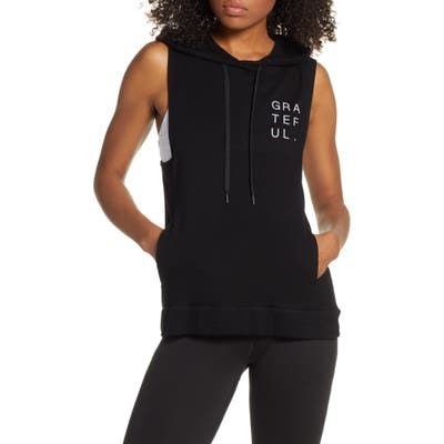 Good Hyouman Levi Grateful Sleeveless Hoodie, Black