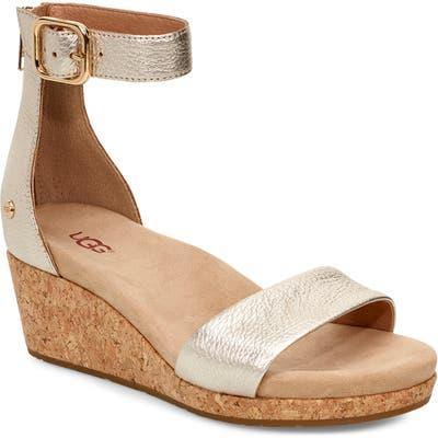 UGG Zoe Ii Metallic Wedge Sandal