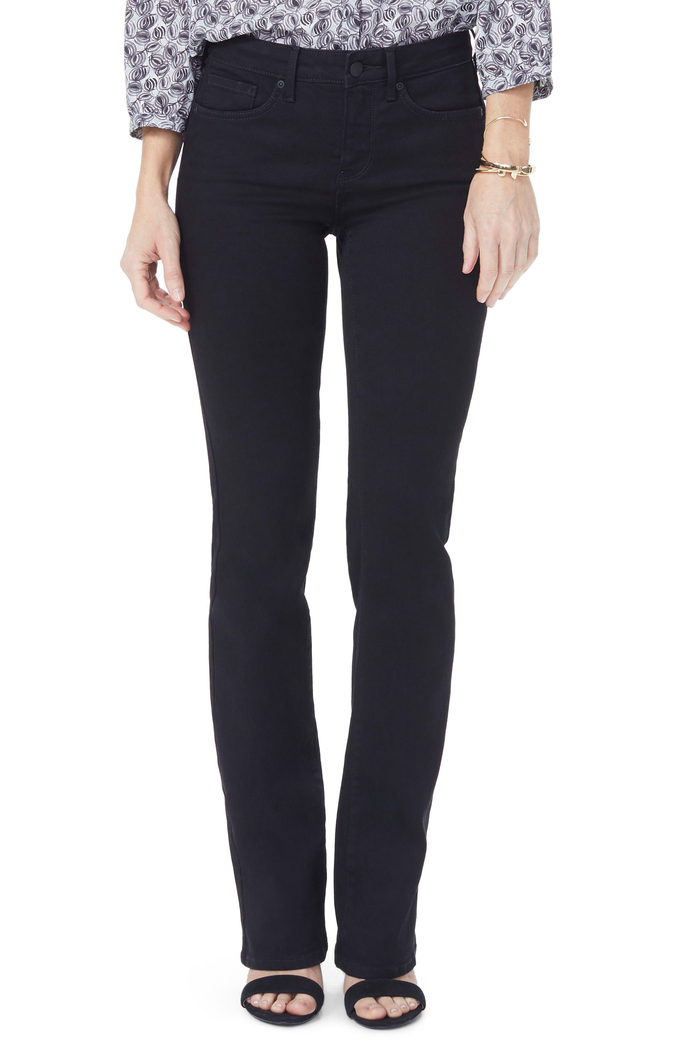 ,                             Barbara High Waist Stretch Bootcut Jeans,                             Main thumbnail 1, color,                             BLACK