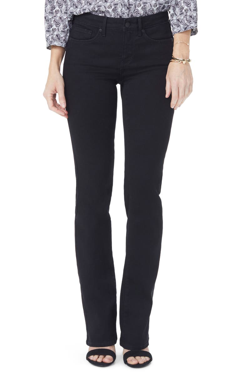 NYDJ Barbara High Waist Stretch Bootcut Jeans, Main, color, BLACK
