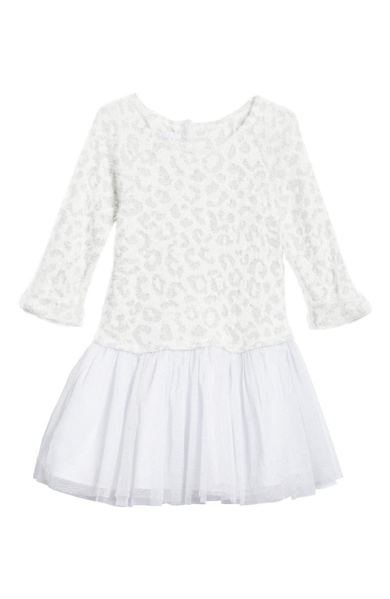 PIPPA & JULIE Animal Print Sweater Tutu Dress, Main, color, 139