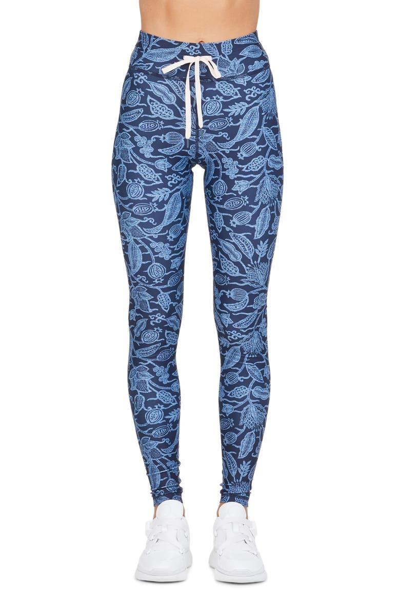 THE UPSIDE Batik Yoga Pants, Main, color, FLORAL
