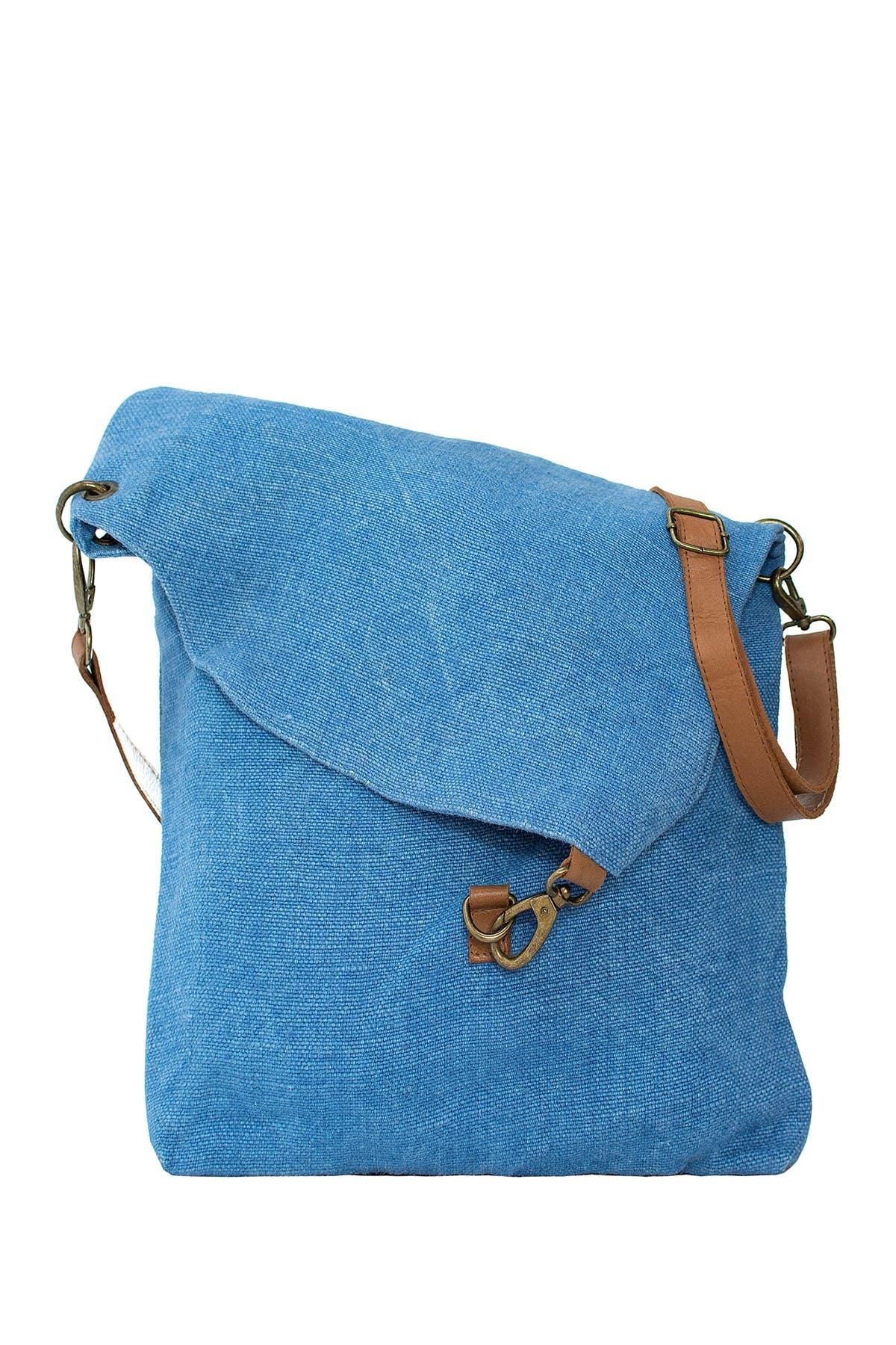 Image of Vintage Addiction Foldover Jute & Leather Crossbody Bag