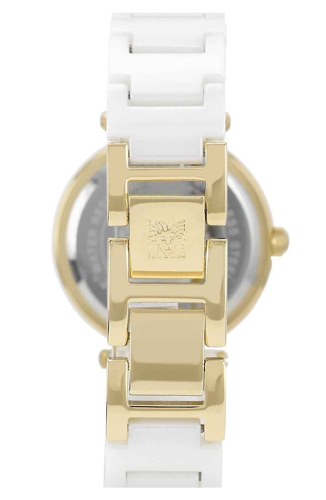 ,                             Round Ceramic Bracelet Watch, 31mm,                             Alternate thumbnail 7, color,                             101