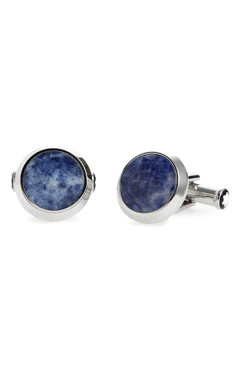 MONTBLANC Sodalite Cuff Links, Main, color, 040