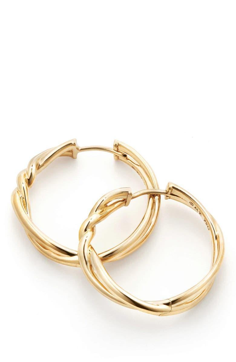 DAVID YURMAN Continuance Hoop Earrings, Main, color, GOLD
