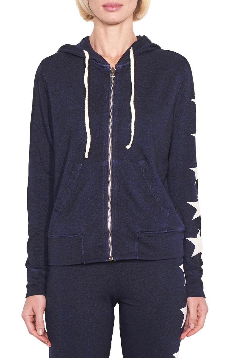 SUNDRY Zip Front Hoodie, Main, color, 410