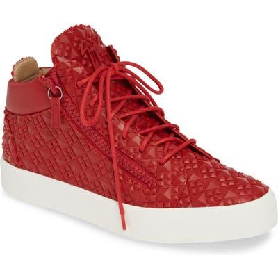 Giuseppe Zanotti Textured Sneaker, Red