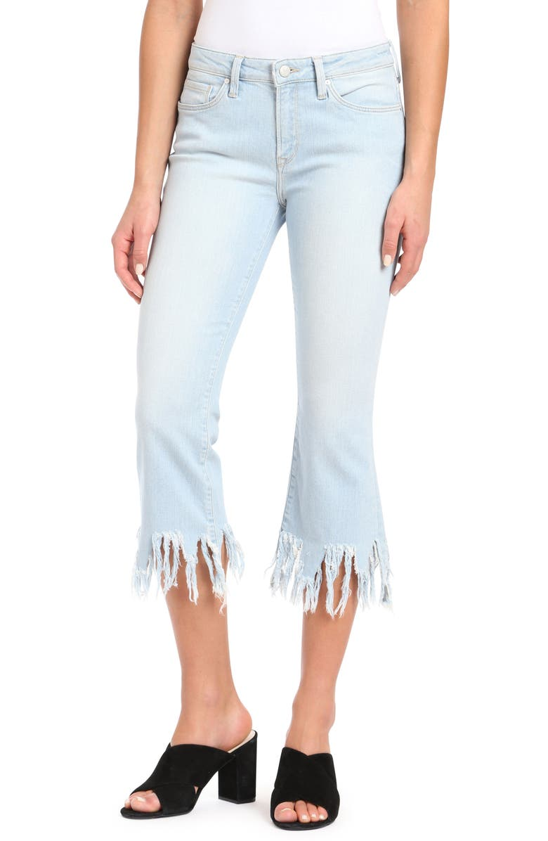 MAVI JEANS Anika Frayed Hem Cropped Jeans, Main, color, 420