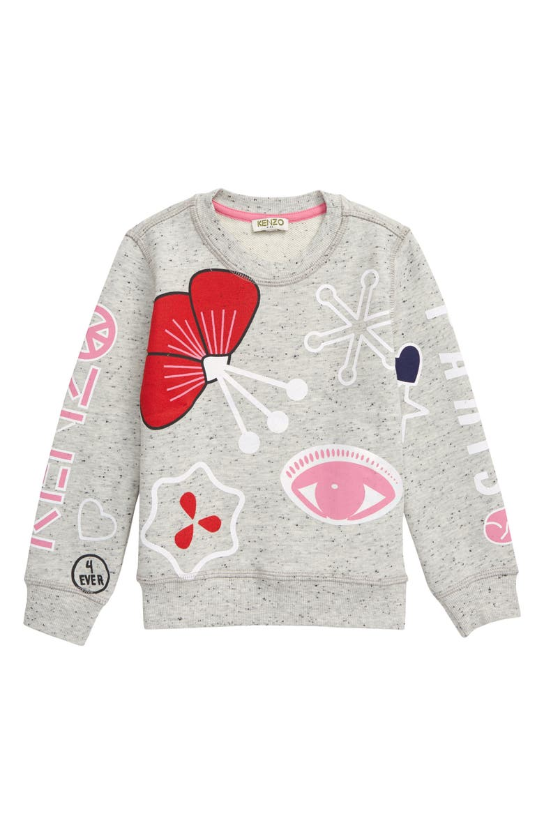 KENZO Graphic Sweatshirt, Main, color, ELEPHANT GREY