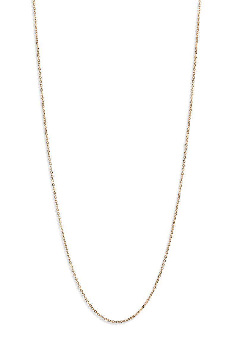 MELINDA MARIA Icons 15-Inch Oval Link Faceted Chain Necklace, Main, color, GOLD