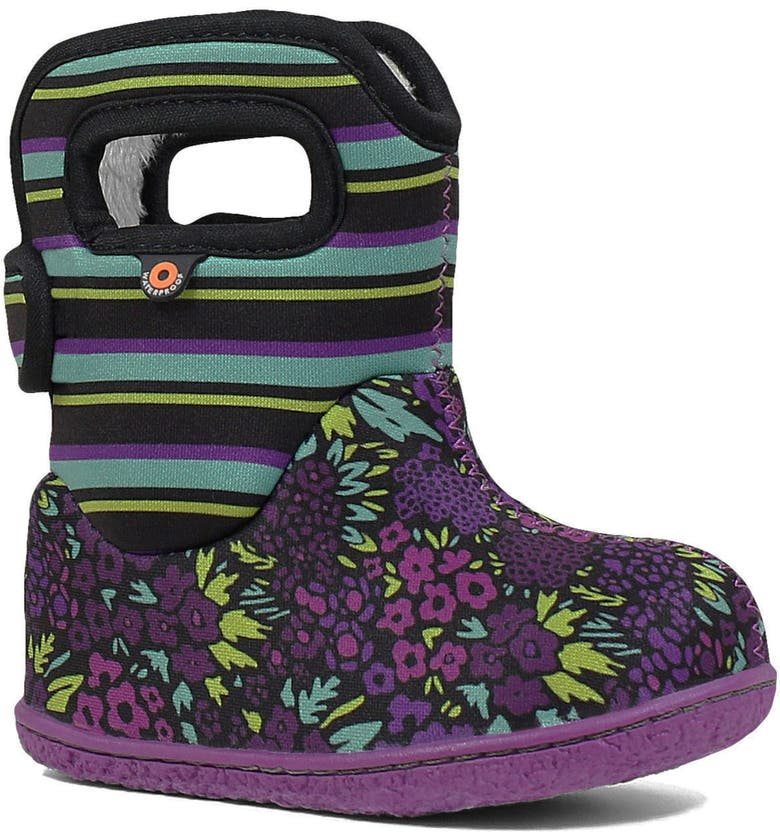 BOGS Baby Bogs Garden Insulated Waterproof Boot, Main, color, BLACK MULTI