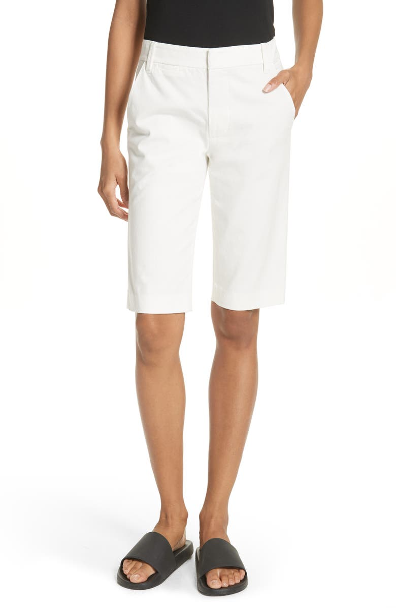 VINCE Bermuda Shorts, Main, color, OFF WHITE