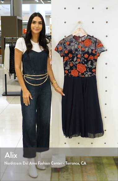 Meryn Embroidered Chiffon Cocktail Dress, sales video thumbnail