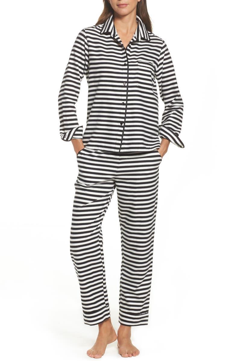 KATE SPADE NEW YORK flannel pajamas, Main, color, 008