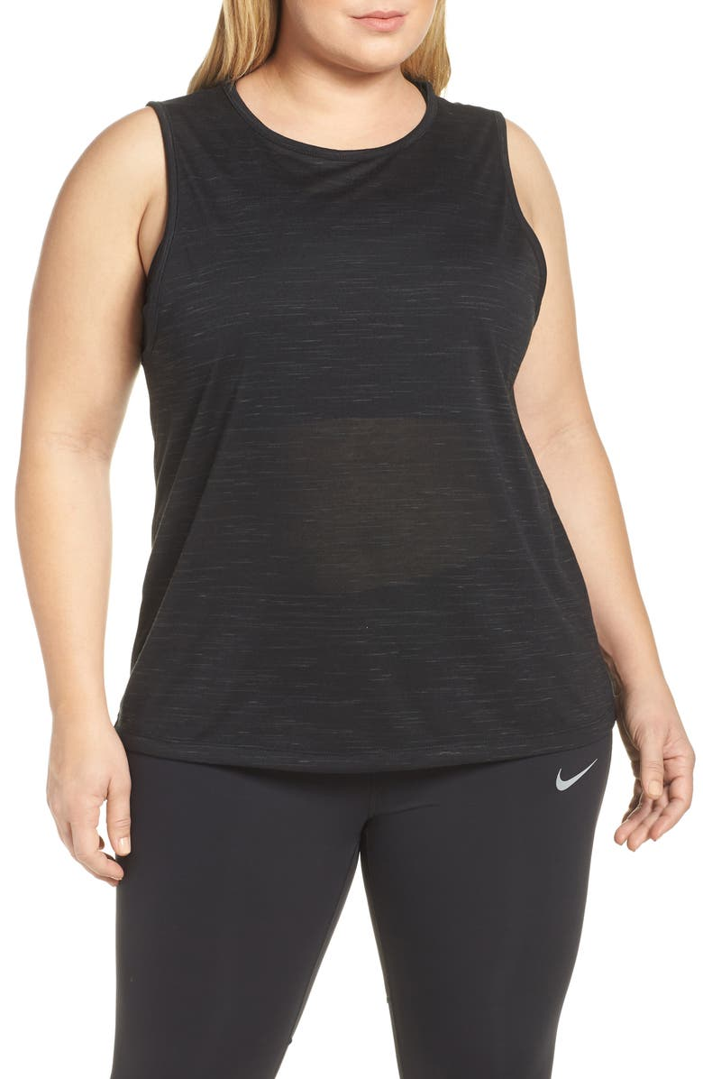 NIKE Dry Legend Tomboy Tank, Main, color, BLACK/ COOL GREY/ WHITE