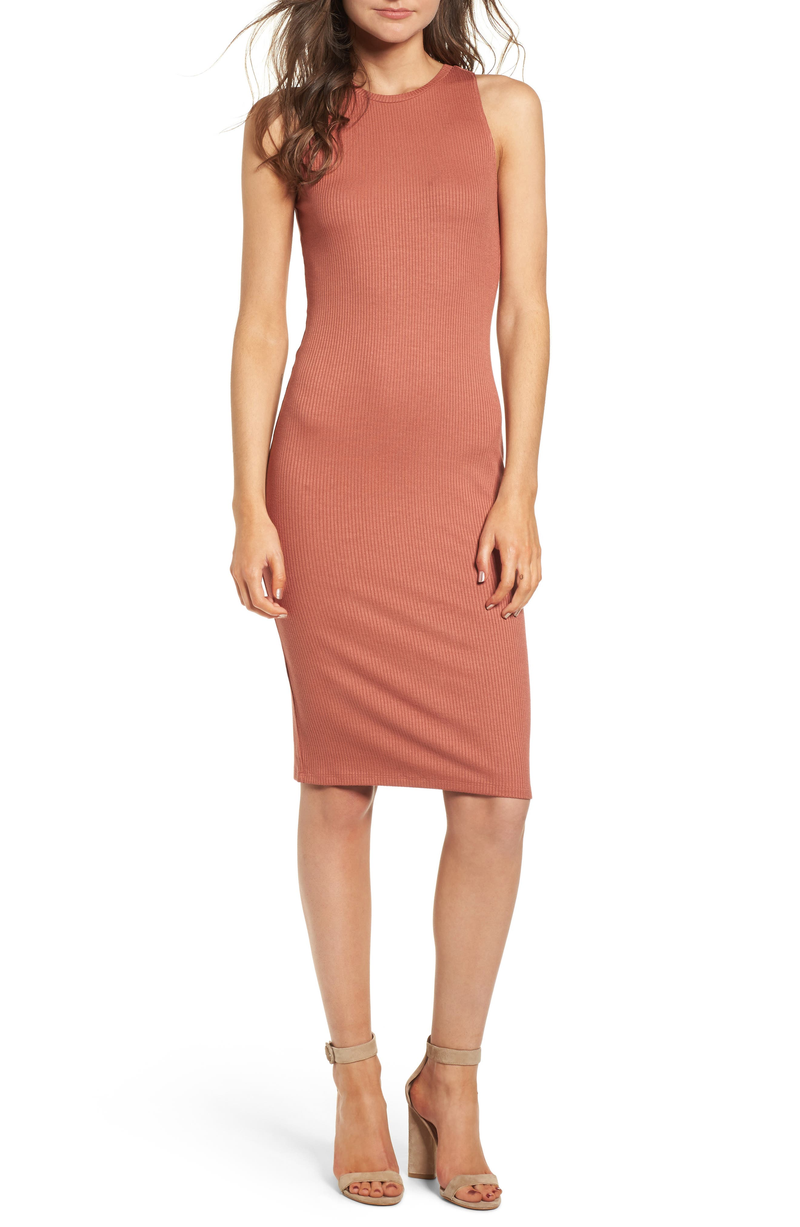 Rib Tank Dress, Main, color, 958