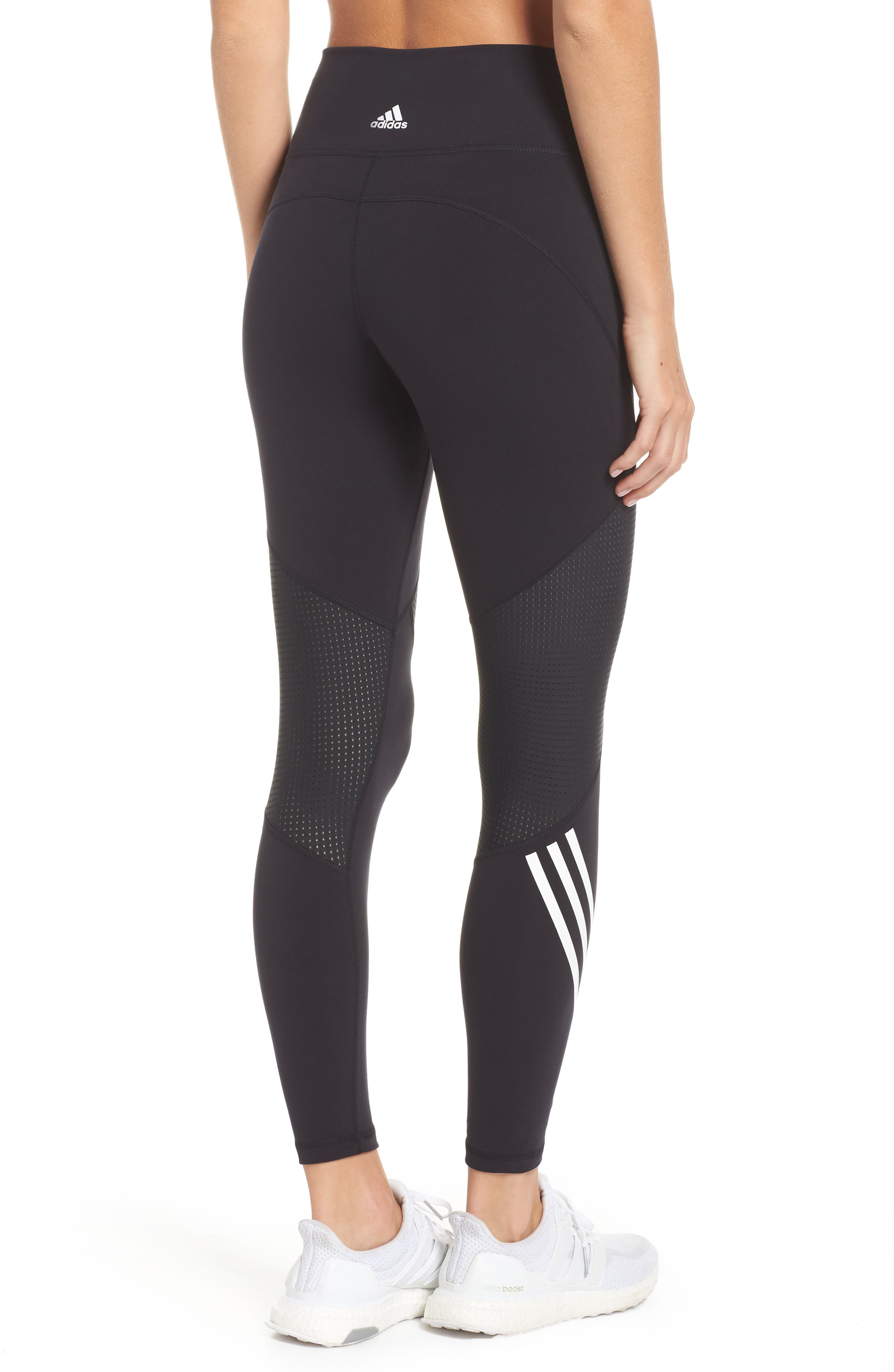 ,                             Believe This High Waist 7/8 Tights,                             Alternate thumbnail 2, color,                             BLACK/ WHITE