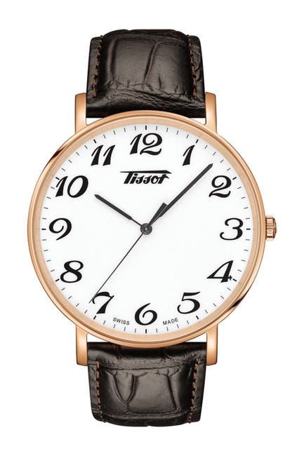 Image of Tissot Men's Everytime Large Croc Embossed Leather Strap Watch, 42mm